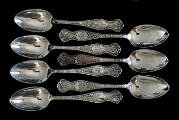 1020418 Oneida Community Silver Plate State Spoons - Product Image