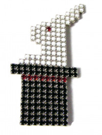 195075  Bauer Rabbit in a Hat Brooch - Product Image