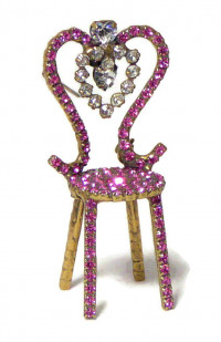 195215  Bauer 3-D Rhinestone Chair - Product Image