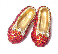 195200  Ruby Slippers Brooch - Product Image