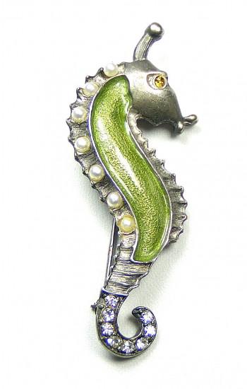195001 Yosca Enamel Seahorse Pin - Product Image
