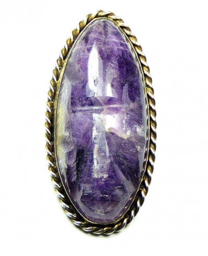195018  Sterling PRN Mexican Pin/Pendant Carved Amethyst Quartz Face - Product Image
