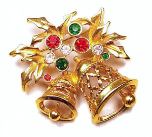 195020  Christmas Bells with Rhinestones - Product Image