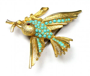 195042  High Flyer with Faux Turquoise - Product Image