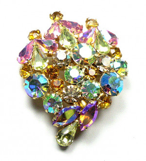 195045  Prong Set Aurora Glitz Brooch - Product Image