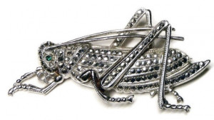 195060  Sterling Prong-Set Marcasite Grasshopper - Product Image