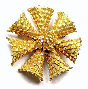 195062  BSK Faceted Metal Floral Burst - Product Image
