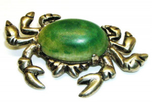195082  Mexico Sterling Crab with Natural Stone - Product Image