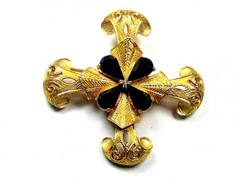 195091  DeNicola Maltese Cross w/Stones - Product Image
