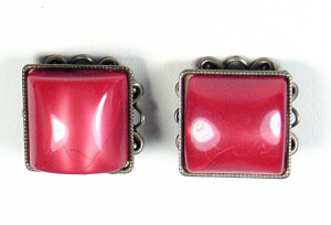 195121  Red Moonglow Pillow Ear Clips - Product Image