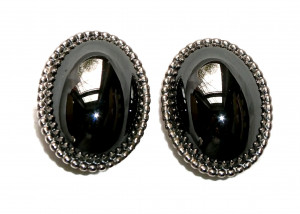 195132  Whiting Davis Hematite-look Ear Clips - Product Image