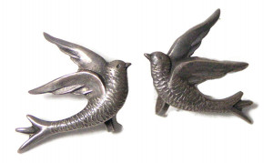 195151  Sterling Mexico Swallow Ear Screws - Product Image