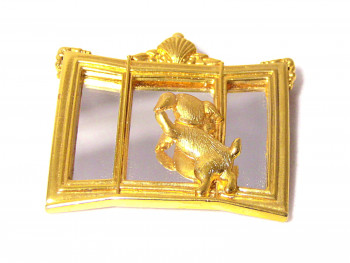 195201  JJ Mutt & Mirror Brooch - Product Image