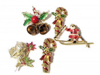 195203  Small Collection Christmas Pins - Product Image