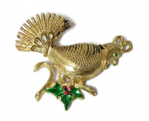 W195209  Christmas Partridge Pin - Product Image