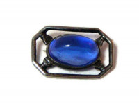 195228  Cobalt Blue Cabochon Pin - Product Image