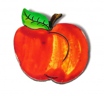 195233  Painted Apple Pin - Product Image