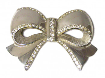195236  Oversized Bow with Rhinestones - Product Image