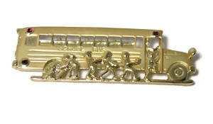 196005  School Bus Brooch - Product Image