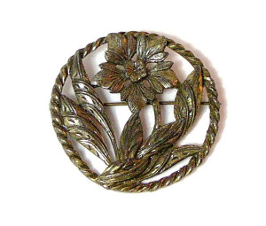 196015  Floral Brooch - Product Image