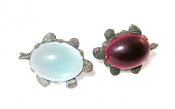 196037  Pair Early Celluloid Turtles - Product Image