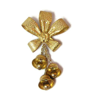 196038  Haskell Multi-Textured Bell Brooch - Product Image