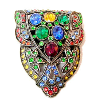 196047  Multi-Colored Rhinestone Fur Clip - Product Image