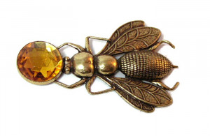 196055  Honey Bee Figural Brooch - Product Image