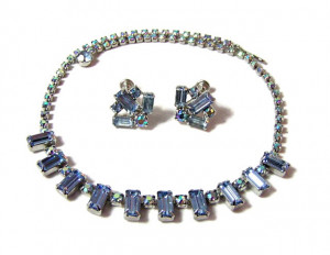 196100  Weiss Rhinestone Necklace & Earrings - Product Image