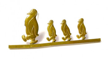 196227  Prancing Penguins Pin - Product Image