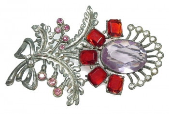 20300118  Oversized Art Deco Brooch - Product Image