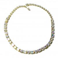 2030017  AB Prong Set Rhinestone Necklace - Product Image