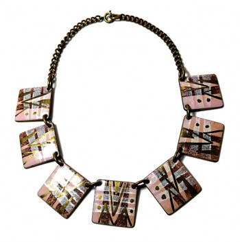 203004  Ki-Ley Abstract Enamel on Copper Necklace - Product Image