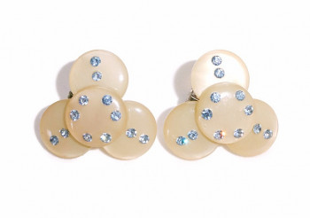 2030070  Celluloid Rhinestone Ear Clips - Product Image