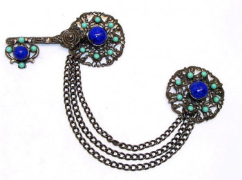 2030084  Statement Filigree Chatelaine Brooch - Product Image