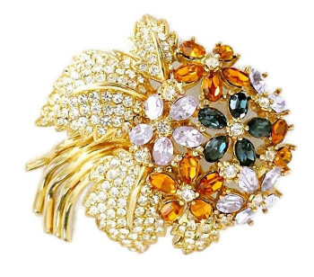 2030096  Ciner Spectacular Floral Brooch - Product Image