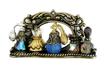 2030098  Sweet Romance Perfume Tray Brooch - Product Image