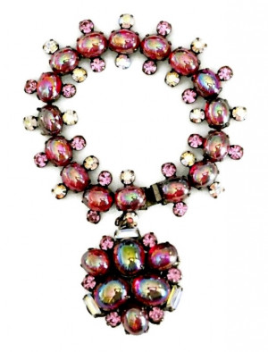 2030099  Ruby Red Caviness Bauble Bracelet - Product Image