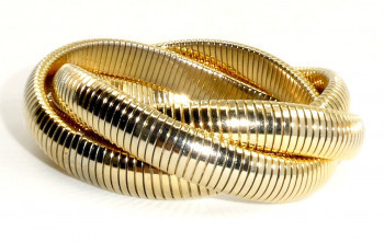 216121 Triple Rows Stretch Intertwined Bracelet - Product Image