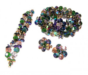 196072  Vendome Faceted Double Strand Crystal Bead & Disc Parure - Product Image