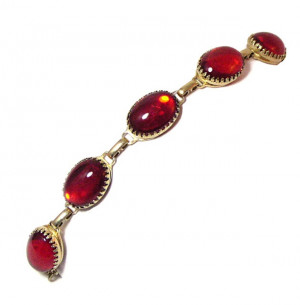 196057  Whiting & Davis Red Stone Bracelet - Product Image