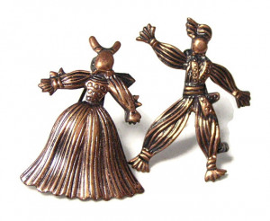 196073  Copper Peasant Pins - Product Image