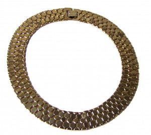 196114  Reinad Gold Snake Skin Collar Necklace - Product Image