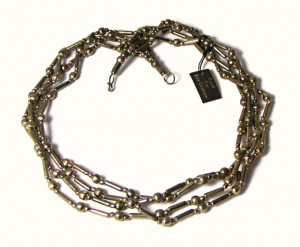 196119  Boho 4 Strand Brass Bead Necklace - Product Image