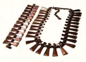 196115  Renoir Copper Necklace & Bracelet - Product Image