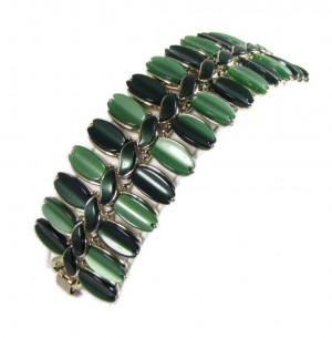 196206  Lisner Multi-Green Moonglow Bracelet - Product Image
