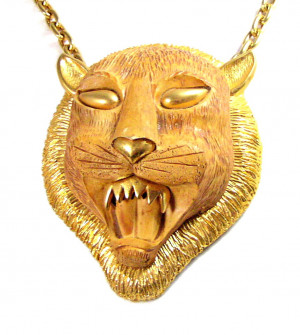 196204  Lion Head Pendant Necklace - Product Image