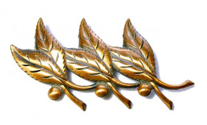 196223  Bell Copper Leaf Pin - Product Image