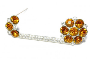 195199  Curious Rhinestone Pin - Product Image
