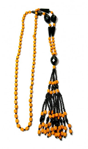 203007  Flapper Beads of Glass & Celluloid with Tassel - Product Image